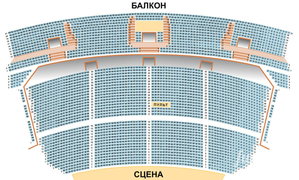 Схема зала дк украины