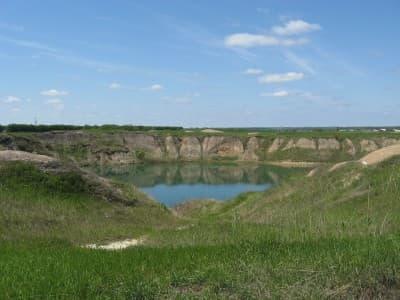 Солёное озеро под Харьковом